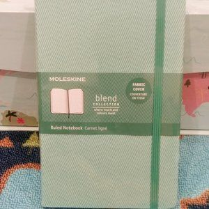 MOLESKINE Blend Ruled Notebook Fabric Cover Green